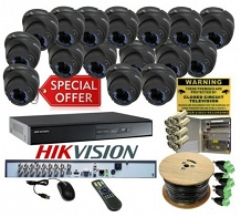 <p>HIK HD-TVI 4 Channel Hi-Res DVR Kit</p>
