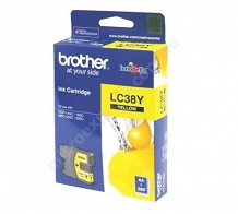 <p>Brother Yellow Inkjet Cartridge LC38Y</p>
